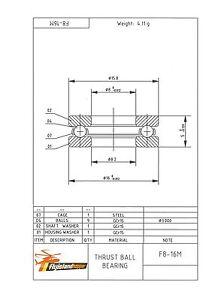 Axial presión almacén f 8-16 m 8x16x5 mm thrust pelota bearing f8-16m  </span>