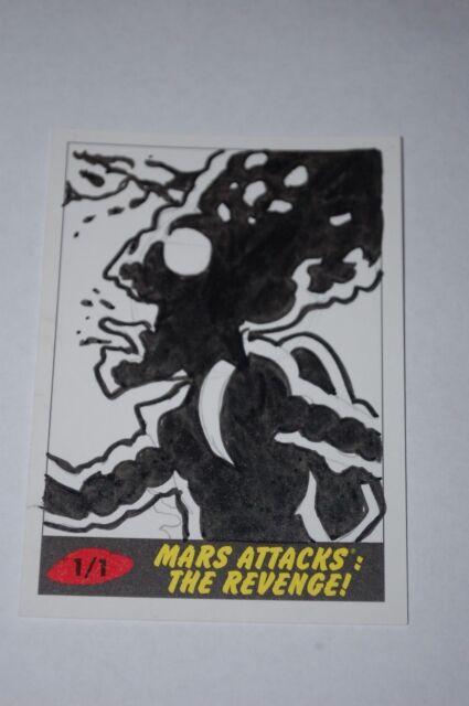 Martian Sketch Card-2017 Topps Mars Attacks The Revenge-Patrick Giles-1/1