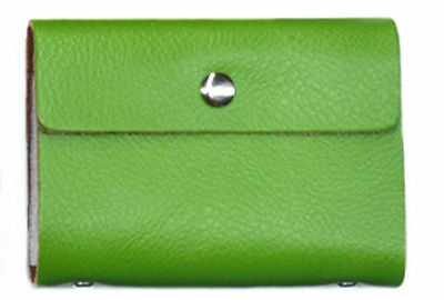 20 Green Credit Oyster Card Business ID Wallet Holder Genuine Real Leather Gift