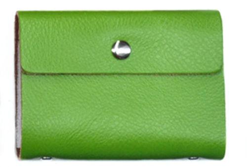 20 Vert De Crédit Huître carte Business ID Wallet Titulaire en cuir véritable Cadeau