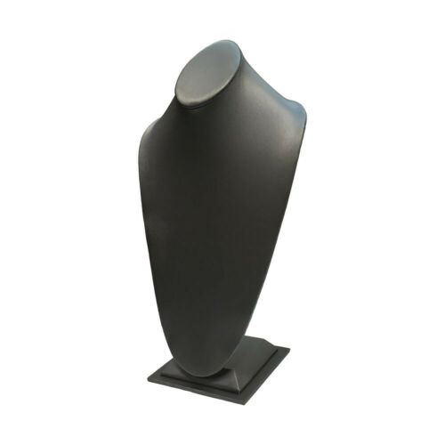 """15/""""H Slate Gray Leatherette Necklace Stand Display Fixture Retail Store Showcase"""