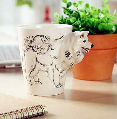 Lovely Art Creative 3D Animal Ceramic Hand Painted Coffee Milk Tea Mug Cup