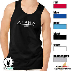 ALPHA-Gym-Rabbit-Muscle-T-Shirt-Tank-6color-Sleeveless-Bodybuilding-Fitness-D135