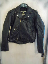 VINTAGE MAN'S BRANDO HEAVY LEATHER MOTORCYCLE JACKET SIZE 42