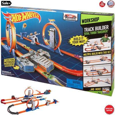 Kids Hot Wheels Racing Cars Race Track Set + 2 Motorized ...
