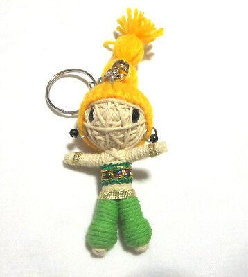 Dancer Girl Voodoo String Doll Keychain Ornament Accessory (Thai handmade)