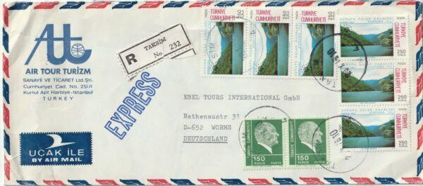 1976 Turquie Oversize Inscrit Cover Envoyé Par Taksim/istambul à Worms-l To Worms