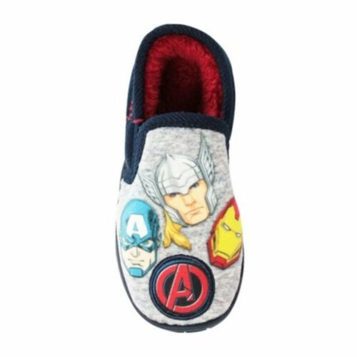 Avengers Boys Slippers in Grey and Black