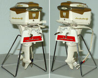 Display Stand Johnson Toy Outboard Motors 1950s K&o Super Seahorse V4-50
