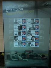 GB 2010 Post Office Commemorative Sheet Grand Prix Drivers British WorldChampion