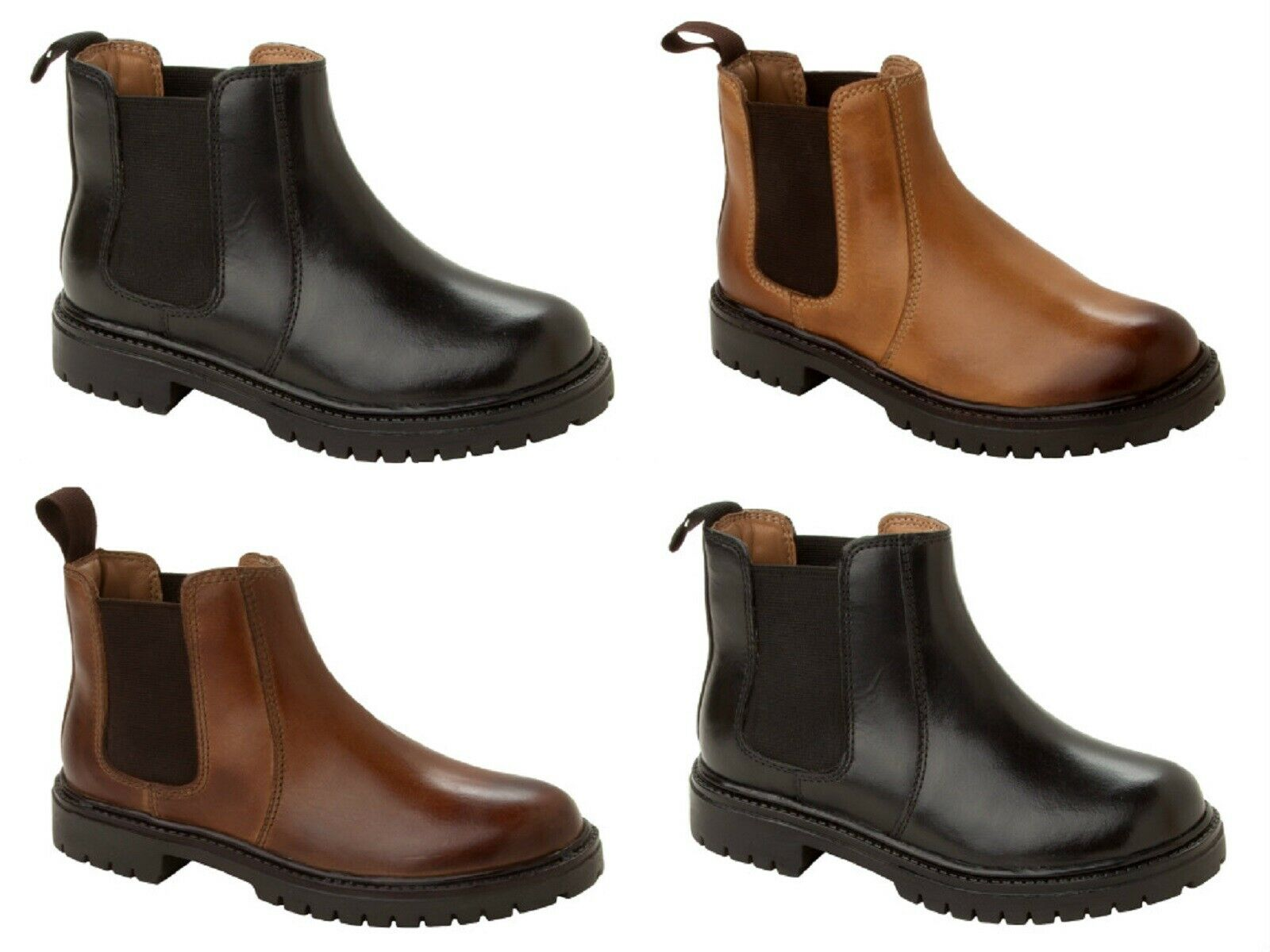 BOYS CHELSEA DEALER LEATHER ANKLE BOOTS