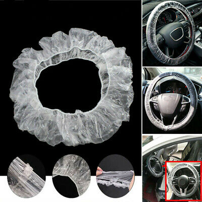 Disposable Steering Wheel Cover Universal Disposable Plastic Steering-Wheel Covers 100Pcs//500Pcs
