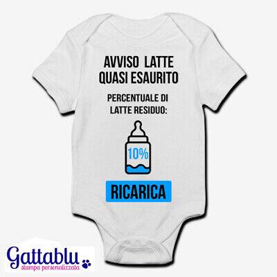 Body pagliaccetto neonato bebè Hey papà ci facciamo un drink Biberon divertente