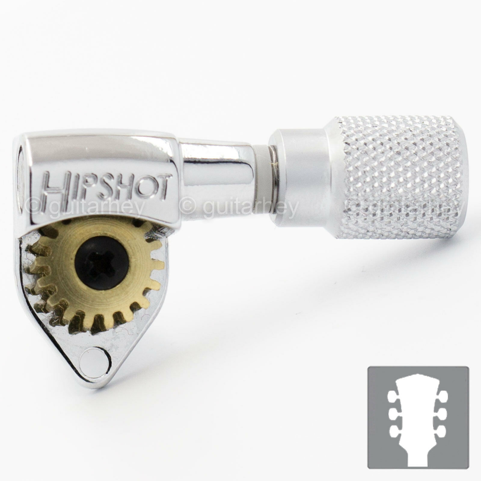 NEW Hipshot Classic Tuner KNURLED KNURLED KNURLED SK1S Buttons w/ Plates for PRS 3x3 - CHROME 310807