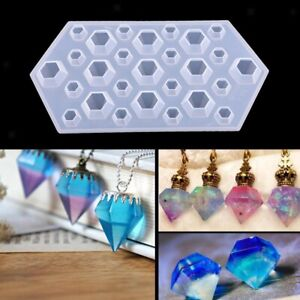 Resin Silicone Molds Pendant Making DIY Carft Crystal Epoxy Mold Earrings Mould