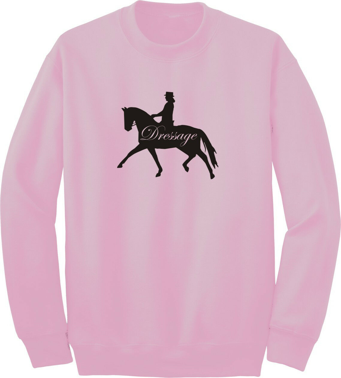 Dressage Square Horse and Rider Horse Lover/'s Sweatshirt Multiple Colors /& Sizes
