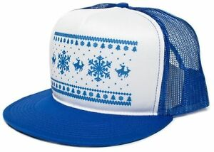 Image is loading New-Retro-HUMPING-REINDEER-Christmas-Royal-Blue-Baseball- 28cc0b372d55