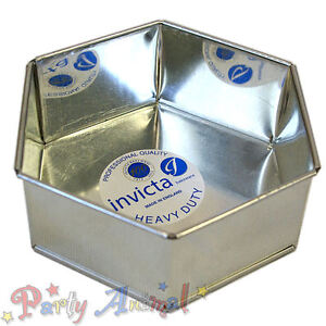 Invicta-HEXAGONAL-High-Quality-Professional-Cake-Tin-Pans-Bakeware-Sugarcraft
