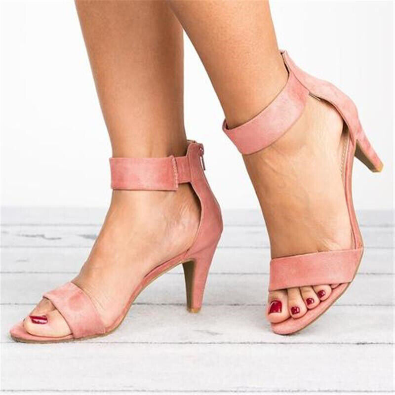 Womens Womens Womens Ladies Low Kitten Heel Wedge Court shoes Pumps Work Sandals Strappy Size 4d7062