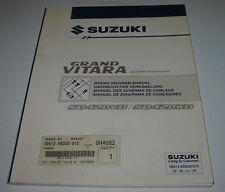 Werkstatthandbuch Elektrik Suzuki Grand Vitara SQ 420 VD WD mit RHW 16V Motor!