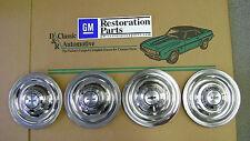 3DAYSALE Rally Wheel Center Flat Caps 66 67 4pc GM Resto Parts hub cap ornaments