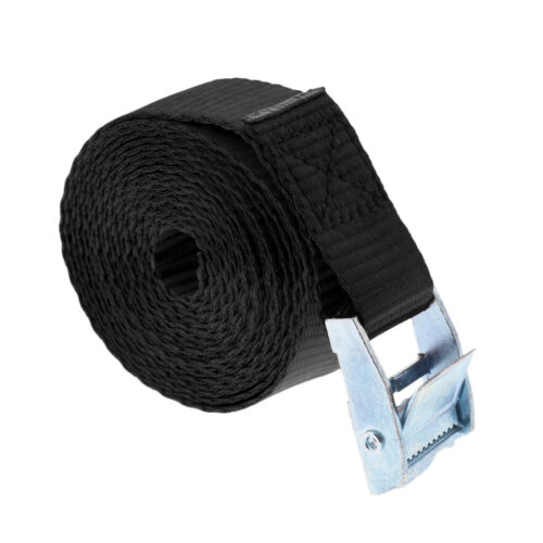Heavy Duty Cam Buckle Tie Down Lashing Strap Roof Racks Trailers 25mm x 2.5m New