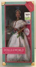 """Dolls Of The World"" Brazil Barbie Collector Doll Pink Passport DOTW W3445 NRFB"