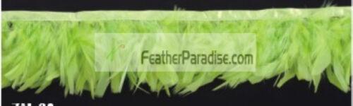 Chandelle Feather Fringe  Lime Green Turkey  Feather  Trim 1 Yard
