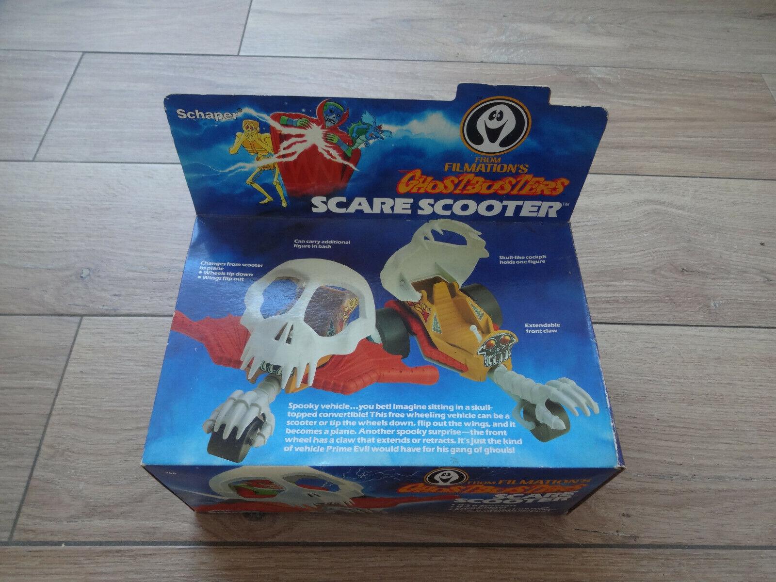 Ghostbussters skrämmer Scooter MISSB oöppnade Schaper verkan Figur från 80-talet Leksaker