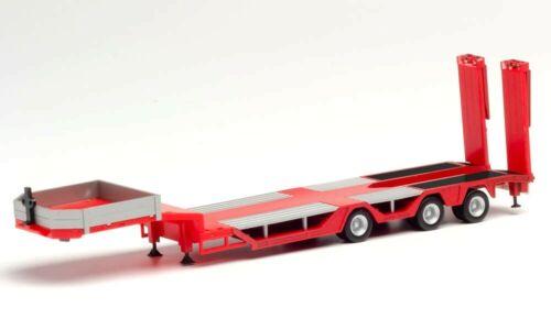 HERPA Modell 1:87//H0 LKW Goldhofer Allrounder Auflieger 3-achs rot #076968