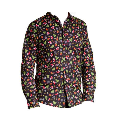 Long Sleeve Santa//Sprouts//Trees Christmas Shirt Xmas Jumper Alternative