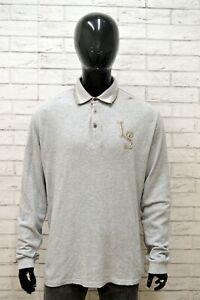 Polo-Uomo-ELLESSE-Taglia-XXL-Maglia-Maglietta-Camicia-Shirt-Man-Regular-Grigio