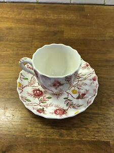 Spode ROSEBUD CHINTZ Cup Saucer Set PINK VINE More Items Available