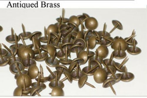High Dome Tacks,Leathercraft,Upholstery,Brass,Antique Brass /& AntiqueSilver *