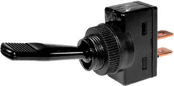 12v 12 Volt Black Toggle Flick Switch On/Off - Classic Car Dash Board SH3