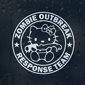 Hello-Kitty-Severed-Hand-Zombie-Outbreak-Response-Team-Car-Decal-Vinyl-Sticker