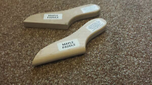 """Set of 2 """"Thin"""" Maple paddles for Lead Loading( lead  repair)-Flat & Half Round"""
