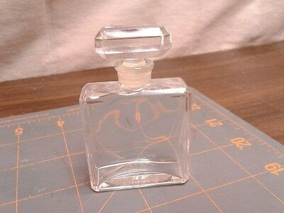 Vintage CHANEL Art Glass PERFUME BOTTLE & STOPPER Small