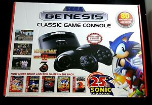 Sega-Genesis-Classic-Game-Console-25th-Sonic-Plug-N-Play-80-Built-In-Gms