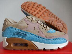 Nike Wmns Air Max 90 LX Mushroom Smokey Blue 898512 200 New Women's Multi Size
