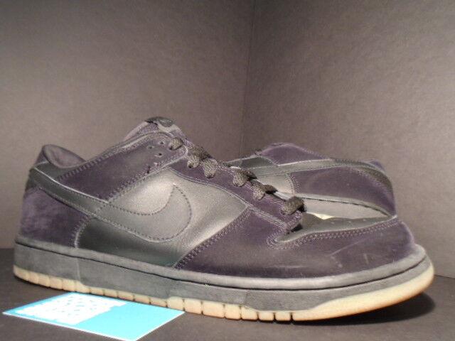 2003 Nike SB DUNK LOW PRO BLACK GUM SOLE BROWN 304714-002 Sz 13