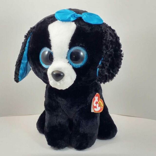 a2786d50547 Ty jumbo giant Beanie Boo Tracey plush black white blue puppy dog 16 ...