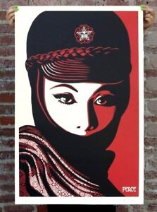 SIGNED-Shepard-Fairey-MUJER-FATALE-Original-Art-Print-Poster-Obey-Giant-24x36