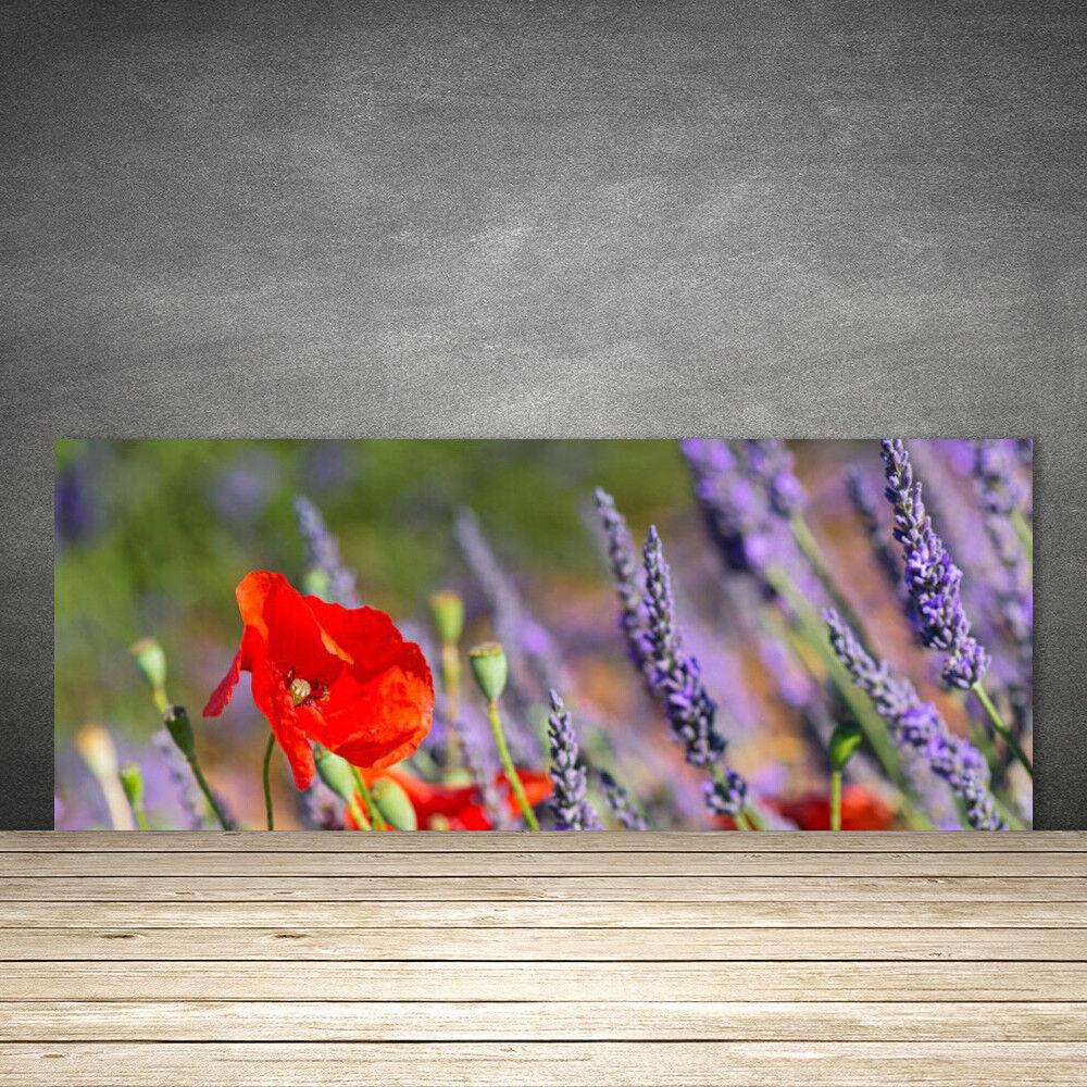 Crédence de de de cuisine en verre Panneau 125x50 Floral Fleurs 70e7c9