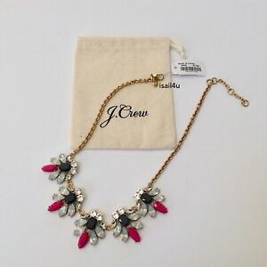 J-Crew-Factory-Crystal-Watchbird-Necklace-NWT-AUTHENTIC-With-Pouch