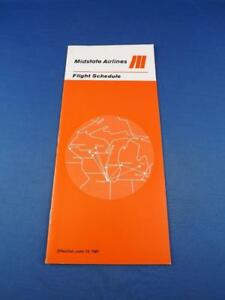 MIDSTATE-AIRLINE-FLIGHT-SCHEDULE-TIMETABLE-JUNE-1981-AIRPLANE-TRAVEL-ADVERTISING