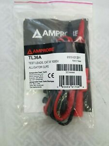 Amprobe-TL36A-Test-Leads-with-Alligator-Clips-1000V