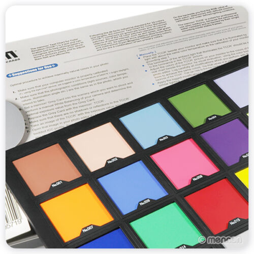 "Mennon Test Color Chart w// 24 Colors Super Large Size 15/"" x 10/"" from US seller!"