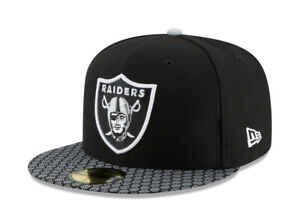 New Era 59Fifty Hat Oakland Raiders NFL 2017 On Field Sideline Black ... 399ab011710