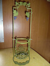 WINE CADDY STAND WROUGHT IRON IN GREEN